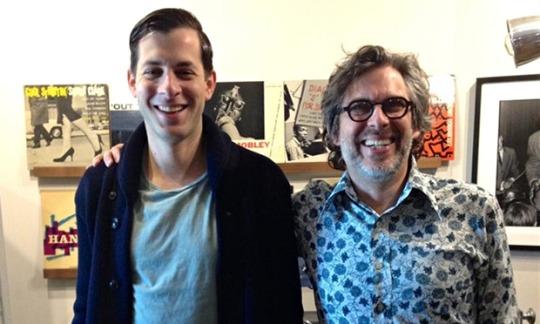 Mark Ronson (left) and Michael Chabon. Photo: Gearbox Records/Twitter