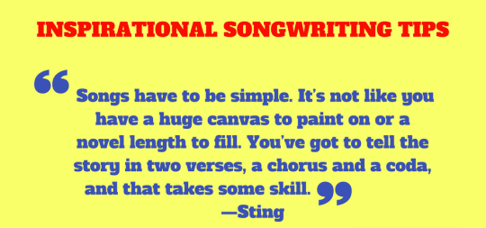 INSPIRATIONAL SONGWRITING TIPS - STING (2)